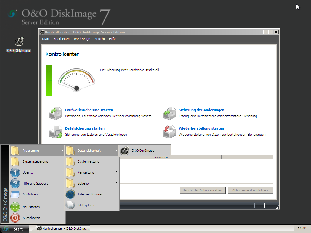 O&O DiskImage unter Windows PE starten