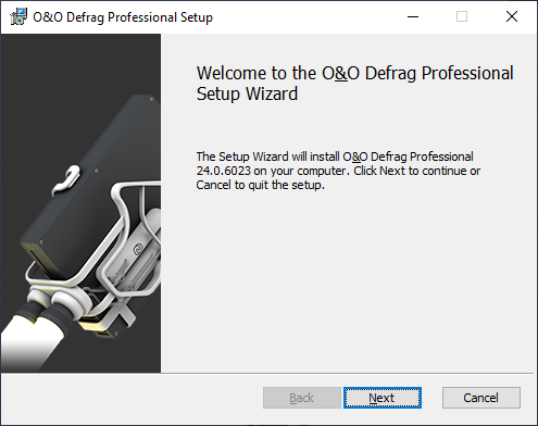 O&O Defrag 24 - Advanced installation