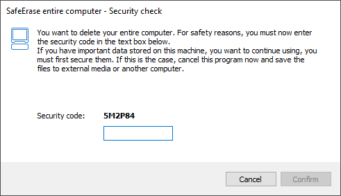 Last security questions prior to permanently deleting the entire computer